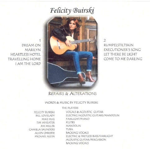 Repairs and Alterations cd cover